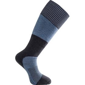 Woolpower Skilled 400 Knee High Socks, niebieski/czarny